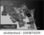 map of central kuwait cities... | Shutterstock . vector #1043876539
