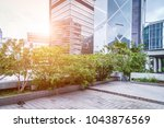 bottom view of office building... | Shutterstock . vector #1043876569