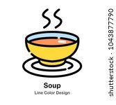 soup line color icon   Shutterstock .eps vector #1043877790