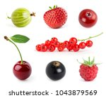 fruits. collection of berries... | Shutterstock . vector #1043879569