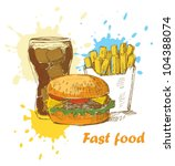 fast food background   Shutterstock .eps vector #104388074
