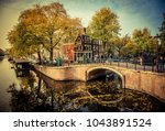 beautiful canals and... | Shutterstock . vector #1043891524