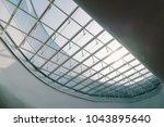 skylight or glass sunroof...   Shutterstock . vector #1043895640