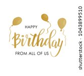 happy birthday greeting card... | Shutterstock .eps vector #1043899510