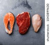 Raw Food Salmon Oily Fish Stea...