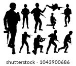 armed forces set of high... | Shutterstock .eps vector #1043900686