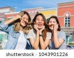 happy young asian women group...   Shutterstock . vector #1043901226
