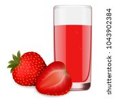 glass of refreshing delicious... | Shutterstock .eps vector #1043902384