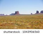 iconic view on monument valley... | Shutterstock . vector #1043906560
