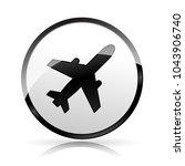 illustration of plane icon on... | Shutterstock .eps vector #1043906740
