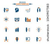 business training icon set | Shutterstock .eps vector #1043907583