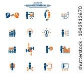 business training icon set | Shutterstock .eps vector #1043913670