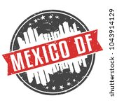 mexico df round travel stamp...   Shutterstock .eps vector #1043914129