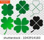 four leaf clover. vector... | Shutterstock .eps vector #1043914183