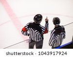 referee is judging a match on... | Shutterstock . vector #1043917924
