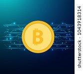 bitcoin digital currency ... | Shutterstock .eps vector #1043918314