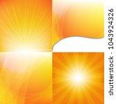 orange dynamic backgrounds set... | Shutterstock .eps vector #1043924326