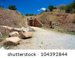 Small photo of Tomb of Aegisthus . Mycenae , an archaeological site in Peloponnese , Greece
