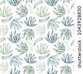 hand drawn vector seamless... | Shutterstock .eps vector #1043928850