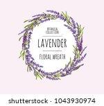 beautiful hand drawn botanical...   Shutterstock .eps vector #1043930974