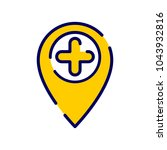 location icon with add sign....