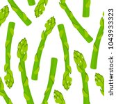 seamless background. asparagus... | Shutterstock .eps vector #1043933323