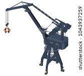 the crane is 3d. realistic...   Shutterstock .eps vector #1043937259