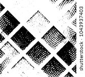 grunge halftone black and white ... | Shutterstock .eps vector #1043937403