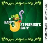 vector happy saint patrick day... | Shutterstock .eps vector #1043942239