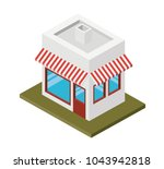 store building isometric icon | Shutterstock .eps vector #1043942818