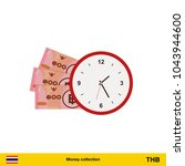 thai baht banknote. time is...   Shutterstock .eps vector #1043944600