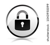 illustration of padlock icon on ... | Shutterstock .eps vector #1043950099