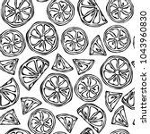 seamless endless pattern of... | Shutterstock .eps vector #1043960830