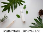 cosmetic skincare nature... | Shutterstock . vector #1043963470