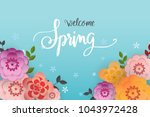 spring flower sale promotion... | Shutterstock .eps vector #1043972428