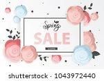 spring flower sale promotion...   Shutterstock .eps vector #1043972440