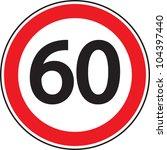 "road sign ""speed   limit"" | Shutterstock . vector #104397440"
