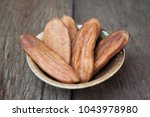 dried bananas  dried fruit ... | Shutterstock . vector #1043978980
