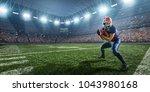 american football player in...   Shutterstock . vector #1043980168