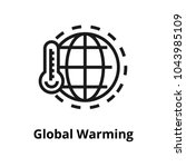 global warming line icon | Shutterstock .eps vector #1043985109