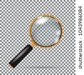realistic vector golden... | Shutterstock .eps vector #1043986084