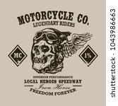custom vintage motorcycle print.... | Shutterstock .eps vector #1043986663