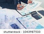 business partner marketing team ... | Shutterstock . vector #1043987533