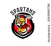 emblem  logo  badge  spartan... | Shutterstock .eps vector #1043990758