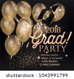 graduation party invitation... | Shutterstock .eps vector #1043991799