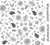 floral seamless pattern. plant... | Shutterstock .eps vector #1043997928