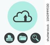 cloud download icon | Shutterstock .eps vector #1043999530