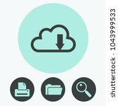 cloud download icon | Shutterstock .eps vector #1043999533