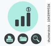 graph chart vector icon | Shutterstock .eps vector #1043999536
