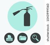 fire extinguisher vector icon | Shutterstock .eps vector #1043999560